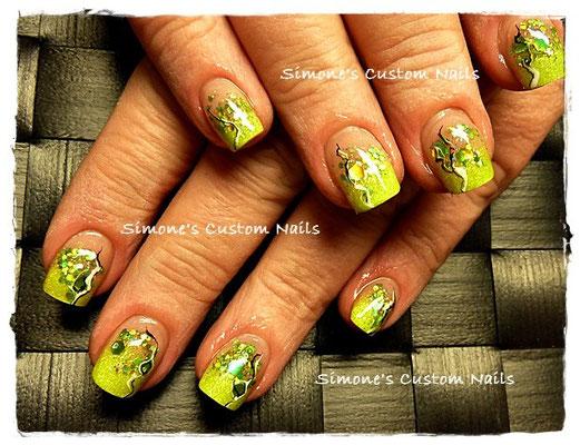 knallgrünes Acrylrefill