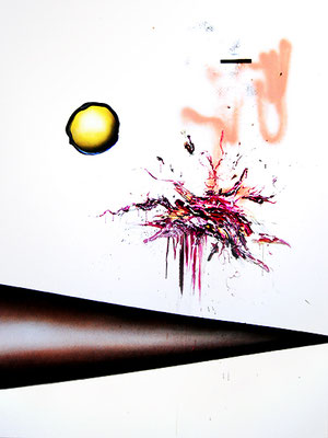 TÄTER SIND SEXY, 2015, mixed media on canvas, 200x150cm