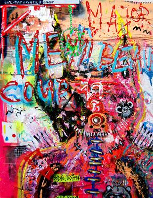 GALGENBERG CATWALK, 2013, mixed media on canvas, 90x70cm