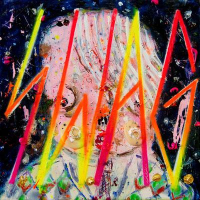 DIE FREUDEN KLARER ANSAGEN, 2012, mixed media on canvas, 30x30cm