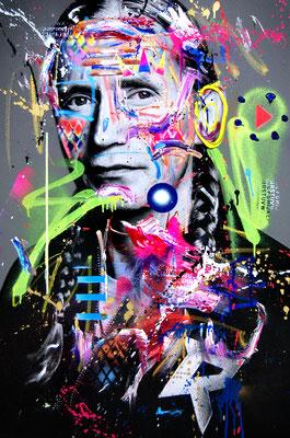 MARC JUNG X MARCO FISCHER // Romano CAPTAIN FUTURE, 2018, mixed media on canvas, 115x75cm