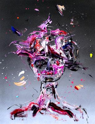 TOKIO BORDELL GESAMMELTE WERKE, 2016, mixed media on cancas, 90x70cm