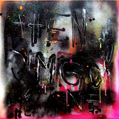THORSTEHER, 2013, mixed media on canvas, 50x50cm