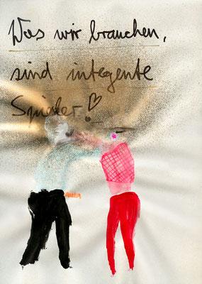 NICHTS ALS DIE WAHRHEIT, 2009, mixed media on paper, 29,7x21cm
