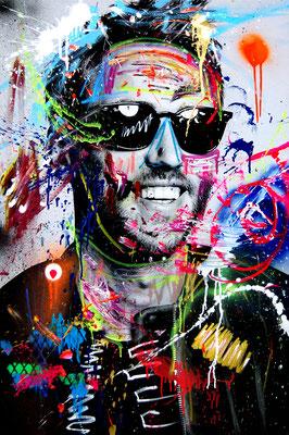 MARC JUNG X MARCO FISCHER // Clueso ZUCKERSCHNUTE, 2017, mixed media on canvas, 115x75cm