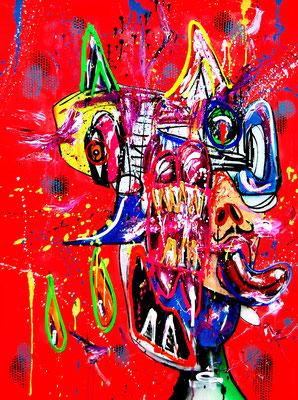 HOLY GEIST, 2018, mixed media on canvas, 120x90cm