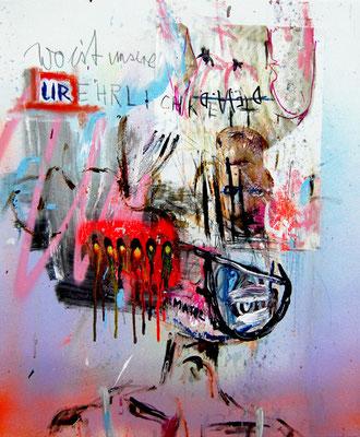 DR BOOTYGRABBER, 2012, mixed media on canvas, 60x50cm