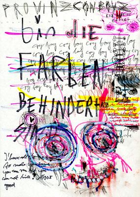OH JE DAS IST JA JETZT SCHON LAECHERLICH, 2012, mixed media on paper, 29,7x21cm