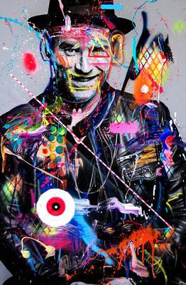 MARC JUNG X MARCO FISCHER // Johannes Oerding SHISHA PRESIDENT, 2017, mixed media on canvas, 115x75cm