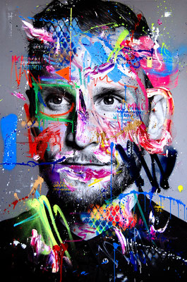 MARC JUNG X MARCO FISCHER // Benedikt Höwedes BEN ISSIMO, 2018, mixed media on canvas, 115x75cm