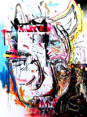 APOCALYPSE KLAUS, 2015, mixed media on canvas, 200x150cm