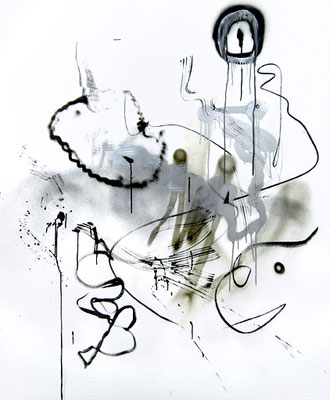 I KILL THAT ASSHOLE WHITER THAN ME, 2015, mixed media on canvas, 170x140cm