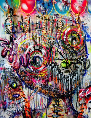 ALWAYSHARDCORE, 2012, mixed media on canvas, 90x70cm