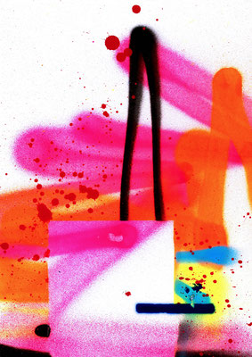 ROOIBOS VANILLA KRÄUTERTEE AROMATISIERT, 2016, mixed mdia on paper, 42x29,7cm