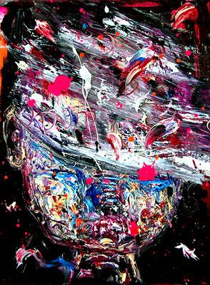 TOLERANZ IST NUR EINE TECHNIK UM VORANZUKOMMEN, 2015, mixed media on canvas, 40x30cm