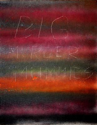 BOMBASTISCH GALAKTISCH, 2009, mixed media on canvas, 24x30cm