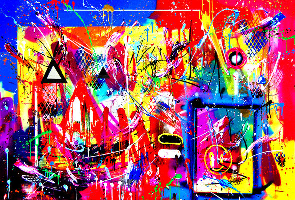 ENERGIE OHNE SCHNEE, 2020, mixed media on canvas, 100x150cm