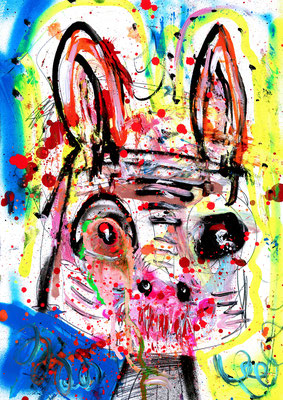 ANIMAL PRINTCESSIN, 2016, mixed mdia on paper, 42x29,7cm