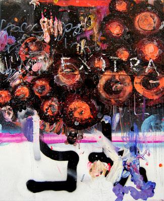 HALBSOWILD, 2010, mixed media on canvas, 50x40cm
