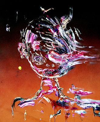 ES MUSS JA NICHT IMMER GLEICH LIEBE SEIN 2, 2015, mixed media on canvas, 60x50cm