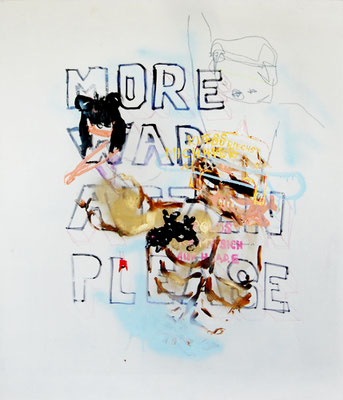 HIMMELSSTÜRMER, 2009, mixed media on hardboard, 110x90cm