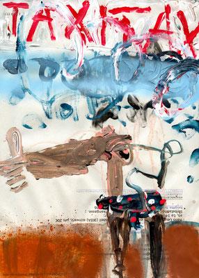UNS STEHEN ALLE TÜREN OFFEN, 2010, mixed media on paper, 29,7x21cm