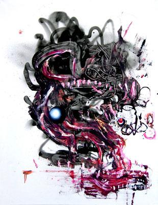 SICHTBETON IN LOVE, 2014, mixed media on canvas, 90x70cm
