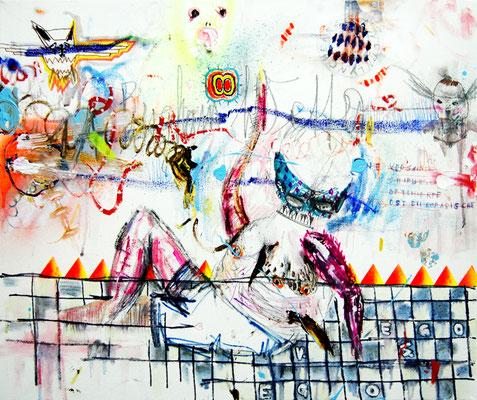 EINE VERSAUTE CHIRURGISCH OPTIMIERTE OSTEUROPÄISCHE VENUS, 2012 , mixed media on canvas, 50x60cm