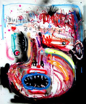 MEINE ELTERN SIND SEIT JAHREN IN JUGENDHAFT, 2014, mixed media on canvas, 60x50cm