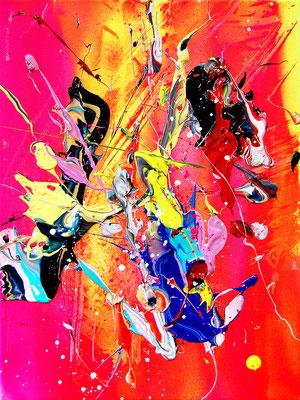 AGRESSIVITÄT IST ERSTMAL NICHTS  SCHLECHTES, 2018, mixed media on canvas, 40x30cm