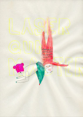 LASERGUNMASTER, 2009, mixed media on paper, 29,7x21cm