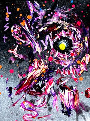 I DROVE YOU CRAZY, 2019, mixed media on canvas, 24x18cm