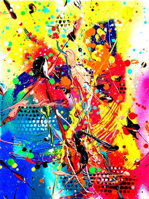 ICH BRAUCHE FÜR ZERSTÖRUNG KEINEN GRUND, 2019, mixed media on canvas, 40x30cm