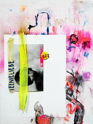 DANN KOMMT IHR MIT DER QUOTE, 2011, mixed media on canvas, 40x30cm