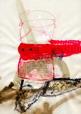LEISTUNGSPRINZIP, 2009, mixed media on paper, 29,7x21cm