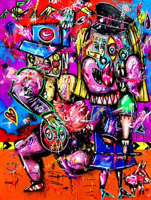 THIS IS NOT A LOVE SONG, 2020, mixed meida on canvas, 200x150cm
