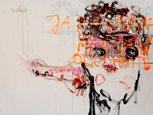 NO MORE QUESTIONS, 2010, mixed media on canvas, 150x200cm