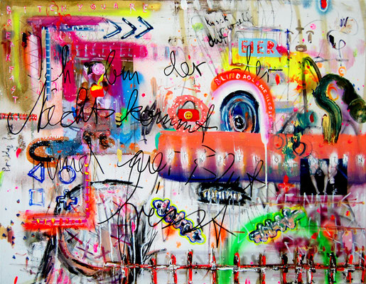 A PERFECT SUMMER FOR ME AND YOU, 2011, mixed media on canvas, 70x90cm