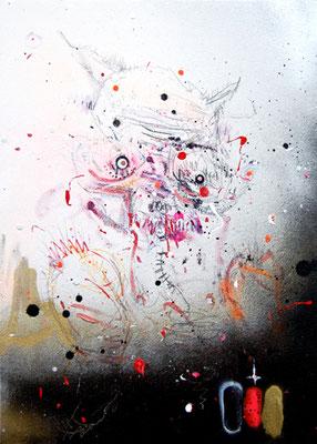 B88 ROADKILL, 2013, mixed media on canvas, 70x50cm