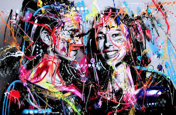 MARC JUNG X MARCO FISCHER // Boy BOYSFRIEND, 2017, mixed media on canvas, 115x75cm
