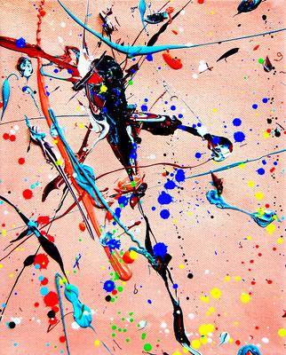 MAGENAUSPUMPEN 2.0, 2019, mixed media on canvas, 30x24cm