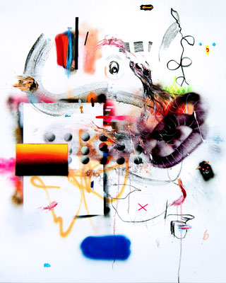 MY BEST DAYS ARE STRESS DAYS, 2015, mixed media on canvas, 150x120cm