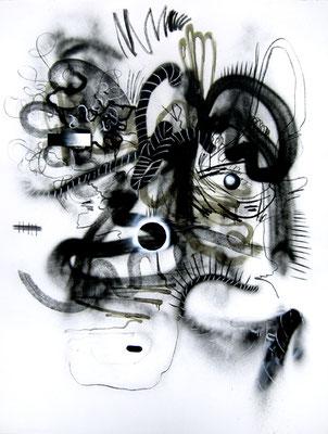 STERBEZULETZTHOFFNUNG, 2014, mixed media on canvas, 200x150cm