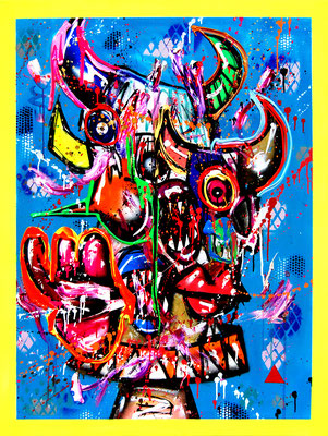 TEENAGER FOREVER WIE PHARRELL, 2020, mixed media on canvas, 120x90cm