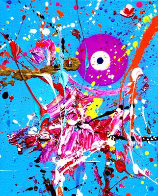 TIEFE WASSER SIND NICHT STILL, 2021, mixed media on canvas, 30x24cm