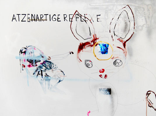 HOPPHOPP, 2009, mixed media on canvas, 90x120cm
