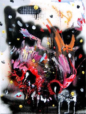 I MAKE YOU SEXY DOT COM, 2015, mixed media on canvas, 40x30cm