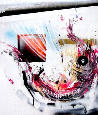 ICH BIN SO FROH BEI DEN GUTEN ZU SEIN, 2015, mixed media on canvas, 60x50cm