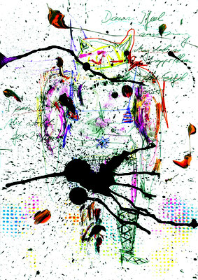 KANN NICHT VERNÜNFTIG AUF TOILETTE GEHEN, 2015, mixed media on paper, 42x29,7cm