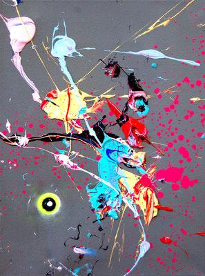 NICHTS IST SAFE, 2018, mixed media on canvas, 40x30cm